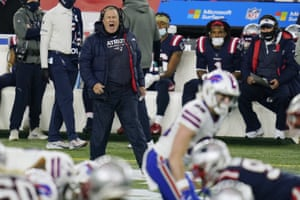 Belichick shouts from the sidelines earlier this season.