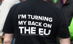 Ukip T-shirt saying I'm Turning My Back on the EU