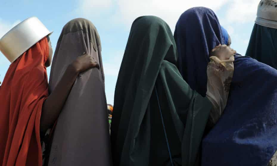 Women at a camp for internally displaced people in Somalia