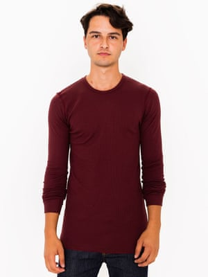 American Apparel thermal top.