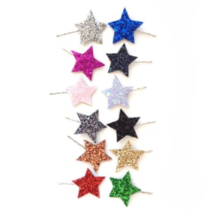 """£5 per pair, <a href=""""http://www.crownandglory.co.uk/product/twinkle-star-glitter-bobby-pin-pair"""">crownandglory.co.uk</a>"""