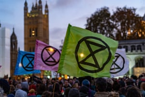Extinction Rebellion protesters in Parliament Square on 17 November last year.