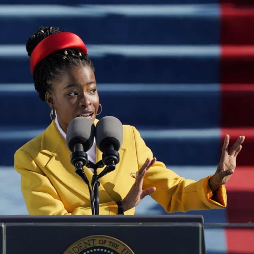 Gorman recites a poem during Joe Biden's inauguration in Washington in January.