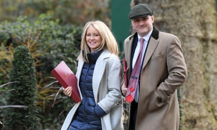 Jake Berry, seen last February, with Esther McVey