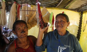Munduruku activists at a craft workshop.