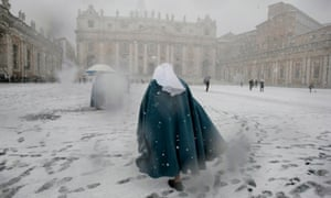 Snowfall in St Peter's square, Rome … Robert Harris's Conclave tells of secrets and spies at the Vatican.