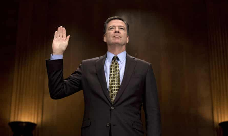 James Comey will answer questions on whether the president tried to influence his investigation into improper contact between a top Trump adviser and Russian officials.