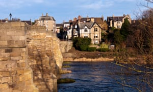 Corbridge, a small, popular town on the banks of the River Tyne in Northumberland