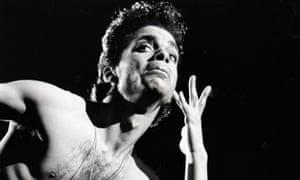 prince on stage in denver 1986