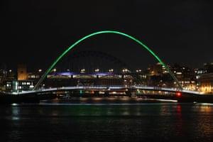 Gateshead Millennium Bridge in Newcastle upon Tyne