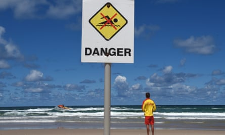 Closed beach sign