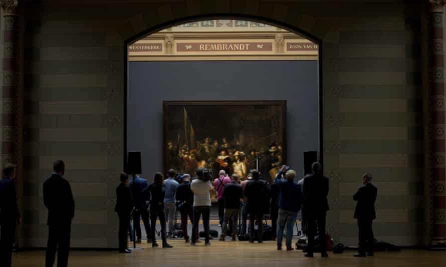 Rembrandt's Night Watch is the focal point of the Rijksmusem's gallery of honour