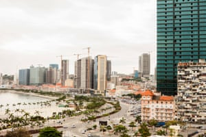 View of the Marginal, the promenade of Luanda
