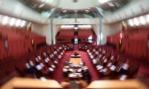 The Australian senate chamber