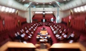 The Senate chamber at Parliament House.