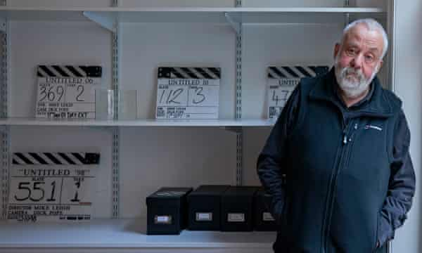 Mike Leigh in his office in Soho, London, in 2016.