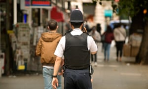 A police officer in London