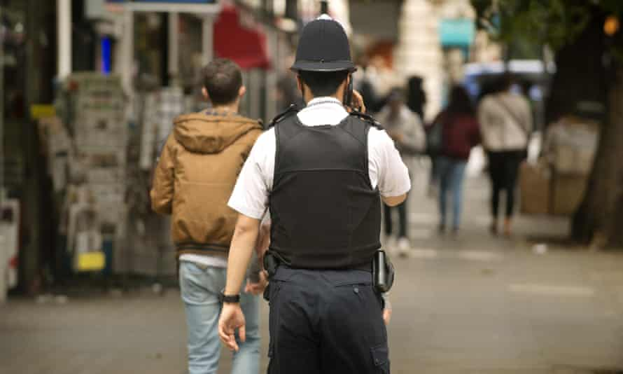 A police officer in London.