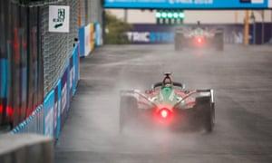 Audi's Daniel Abt racing during the Ad Diriyah E-Prix in December last year.