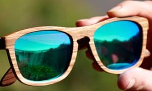 Ã?culos de sol de madeira selvagem