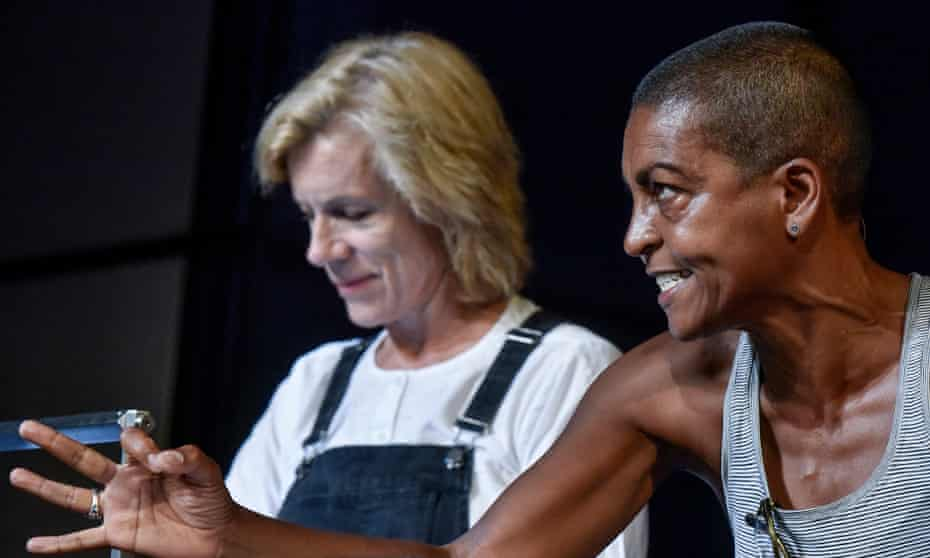 Juliet Stevenson and Adjoa Andoh in Re:Creating Europe.