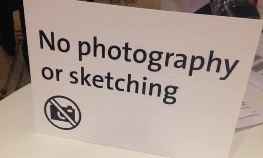 A ban on pencils … the V&A now forbids sketching in its temporary exhibitions.