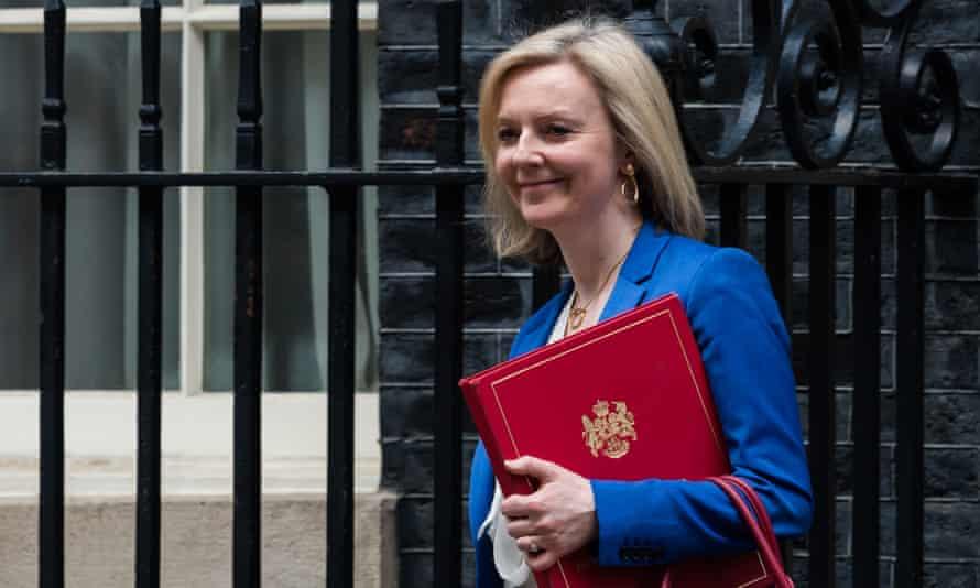 Liz Truss leaving 10 Downing Street in March.