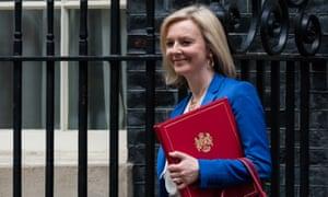 Liz Truss, the international trade secretary, seen here leaving 10 Downing Street in March prior to the coronavirus lockdown.