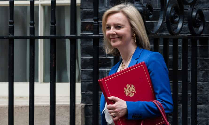 Liz Truss, the international trade secretary, seen here leaving 10 Downing Street in March prior to the coronavirus lockdown.