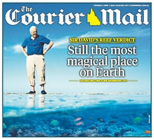The front page of the Courier Mail.