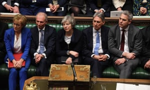 The Tory frontbench on 15 January