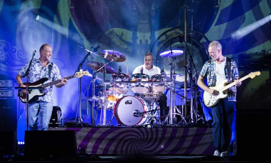 'We could take this to Ibiza!' … Guy Pratt, Nick Mason, and Gary Kemp from Saucerful of Secrets perform in Paris.