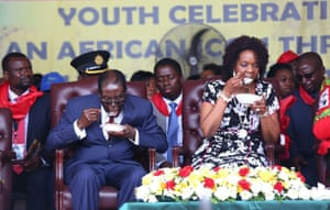 Mugabe marks his 92nd birthday with a lavish party with Grace in Masvingo on 21 February despite a drought