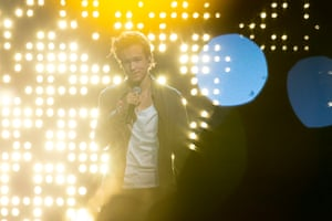 """Frans representing Sweden performs his song """"If I Were Sorry"""""""