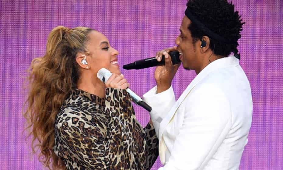 'Now we're happy in love' ... Beyoncé and Jay-Z at the London Stadium, 16 June.