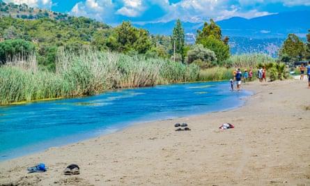 Patara Karadere beach, with stream and reeds