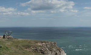 The site for the rejected Navitus Bay offshore windfarm off the Dorset coast, showing how the turbines would have looked.
