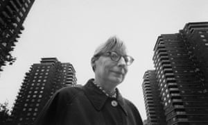 Jane Jacobs walking on streets of New York.