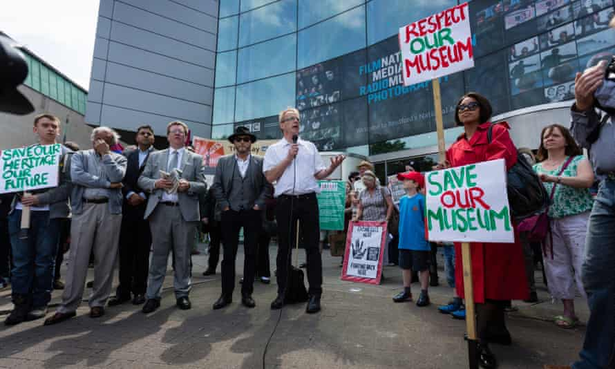 Protest outside the National Media Museum in Bradford in 2013 when the museum faced closure.