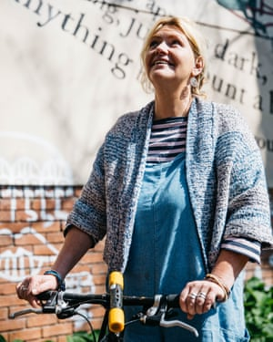 Vicky, who credits the Bristol Bike Project with helping to turn her life around.