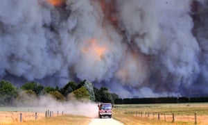 Bushfires rage out of control in Victoria in 2009.