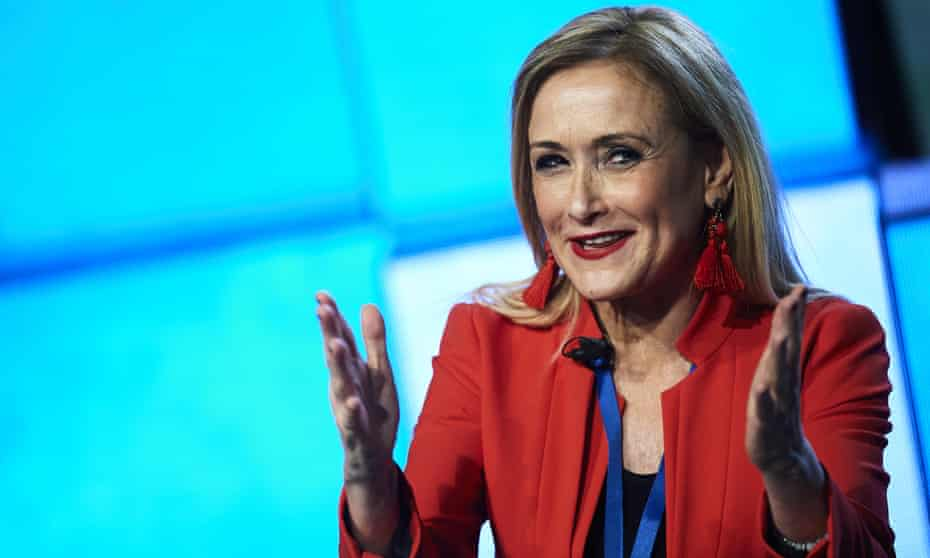 Cristina Cifuentes is accused of having a faked master's degree certificate