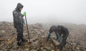 National Trust rangers work in all weathers to repair the memorial and the summit.