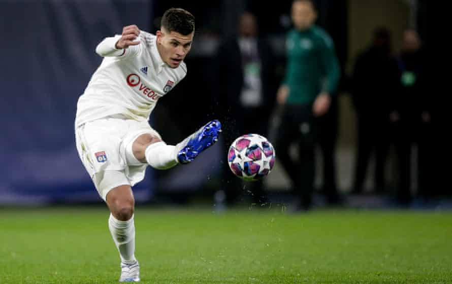 Bruno Guimarães was man of the match when Lyon beat Juventus 1-0 in the Champions League in February.