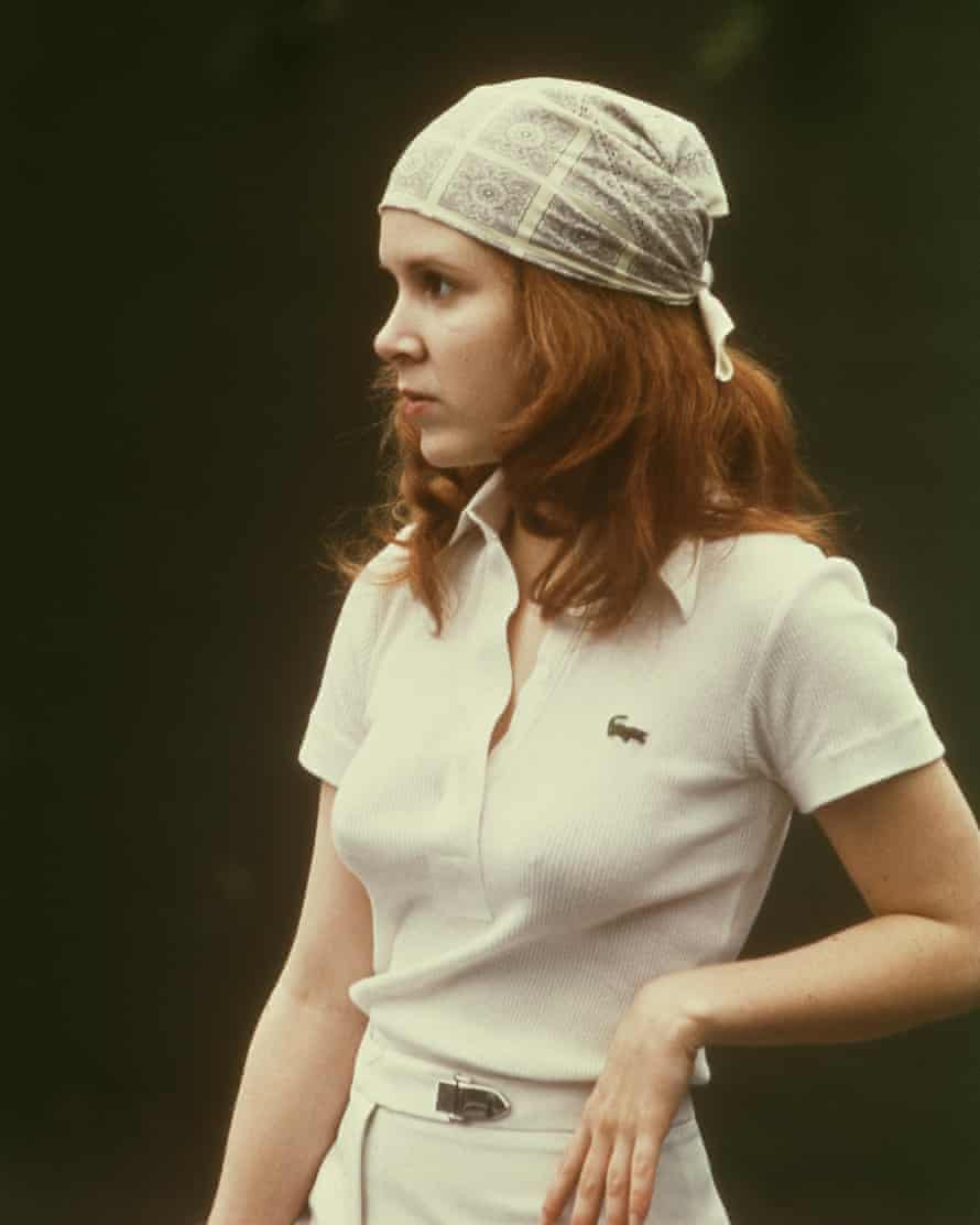 Fisher in the 1975 film Shampoo, one year after attending drama school in London.