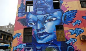 One of the many murals transforming Lima's Callao neighbourhood.