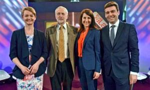 Yvette Cooper, Jeremy Corbyn, Liz Kendall and Andy Burnham.