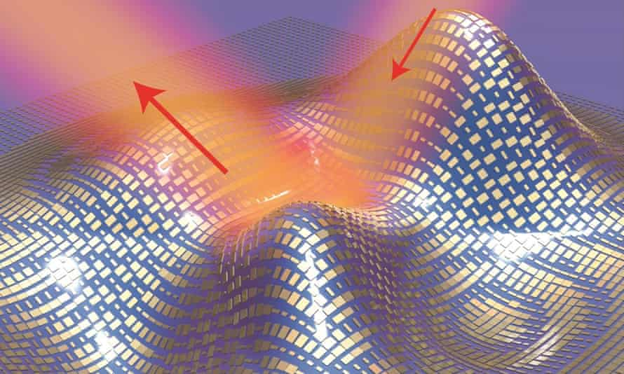 """The 80 nanometre thick film is made from gold """"nanoantennae"""" blocks that interfere with the normal scattering of light waves."""