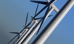 Wind turbine at Westmill co-operative wind farm near Watchfield, South Oxfordshire