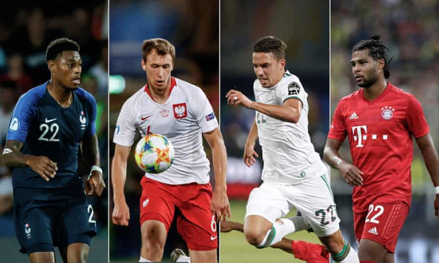 Jeff Reine-Adélaïde, Krystian Bielik, Ismaël Bennacer and Serge Gnabry have all left Arsenal in recent years. Photographs by AP and Getty Images. Composite. Jim Powell